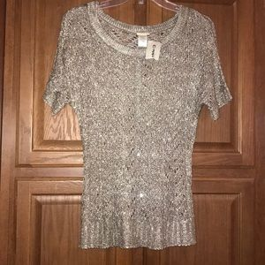Daytrip Buckle Sequin Sweater XS New with Tag